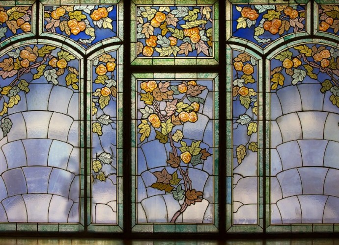 Jacques Gruber stained glass window
