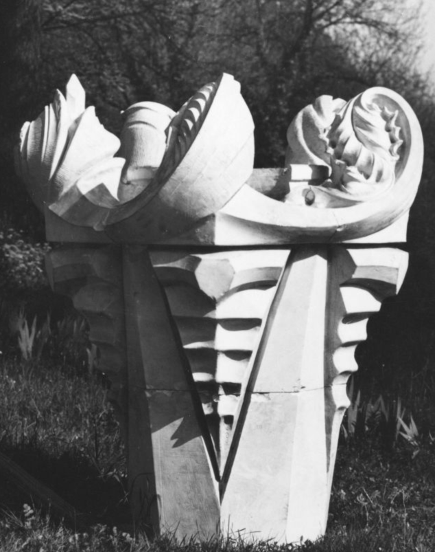 Model of an urn in the design by Hermann Obrist (CH, 1862-1927)