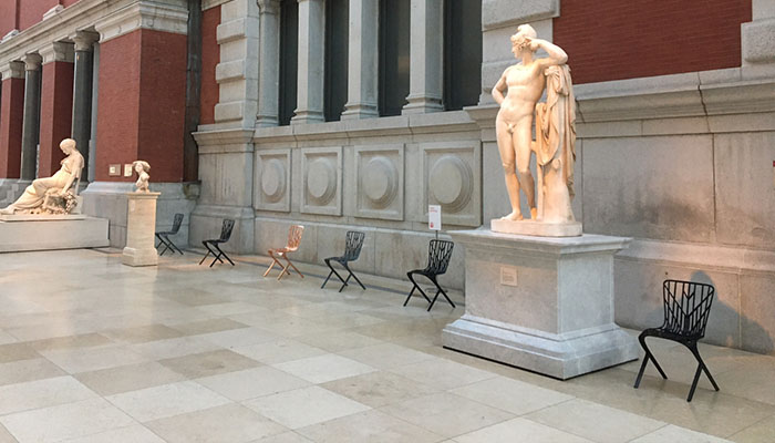 David Adjaye Seating for Knoll Takes Center Court at The Met New York
