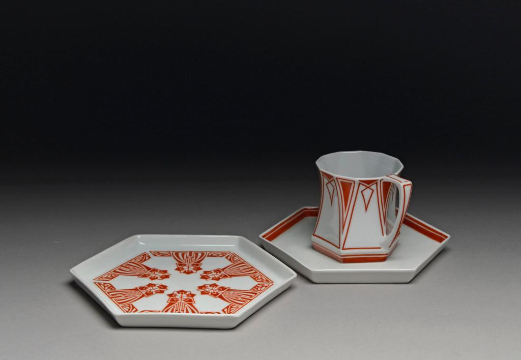 Cup and saucer designed by Peter Behrens