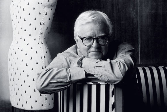 Geoffrey Beene in black and white