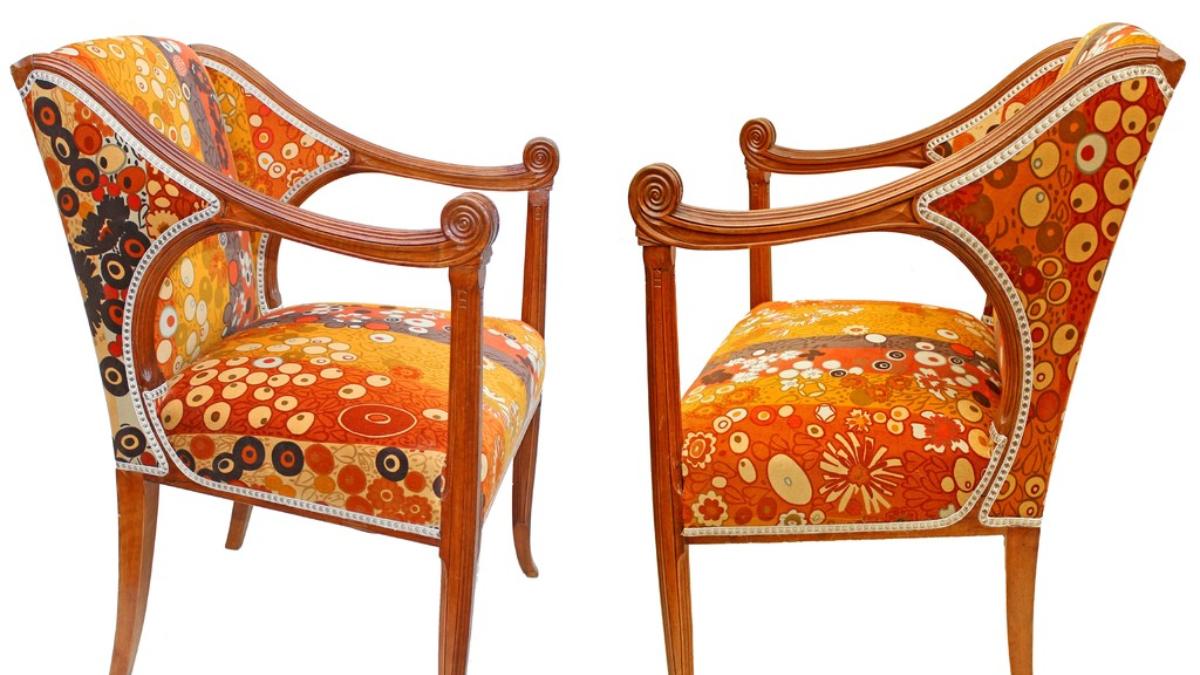 Henri Rapin Art Nouveau Chairs