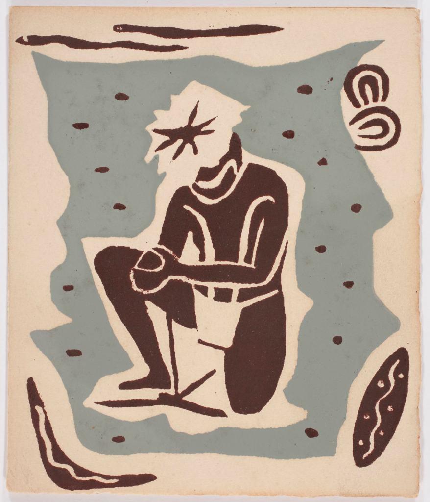 Greeting Card - John Rodriquez, Aboriginal Design, 1950s