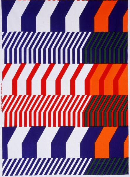 Textile length, 'Piano', cotton, designed by Katsuji Wakisaka, made by Marimekko, Finland 1972