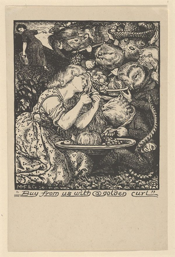 Frontispiece for Goblin Market (Christina Rossetti), 1862 British