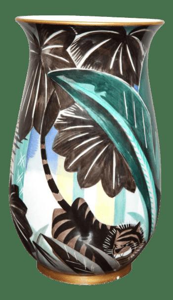 Art Deco Porcelain Vase by Robert Bonfils