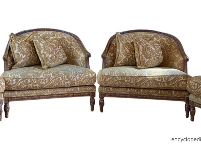 John Mascheroni Bergère Lounge Chairs