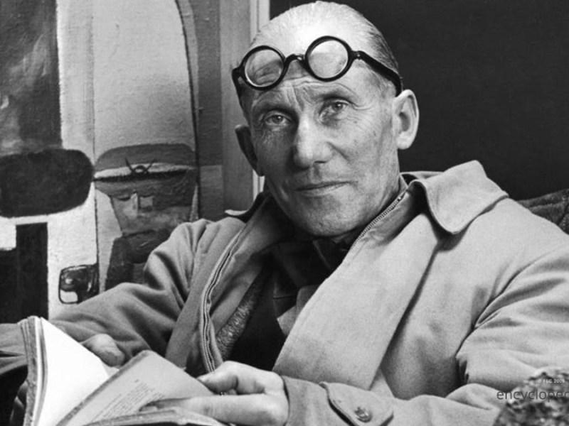 Le Corbusier black and white image