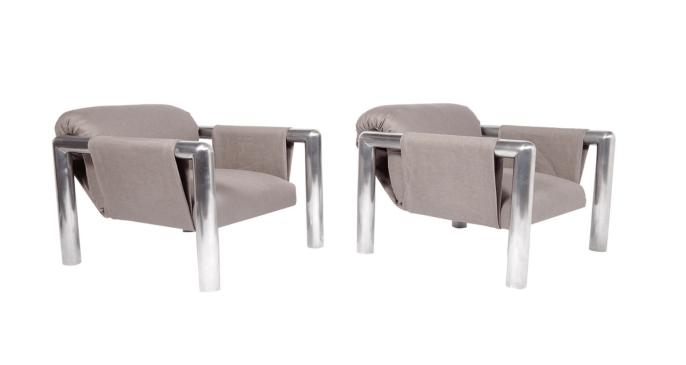 Pair of 424 Lounge Chairs by John Mascheroni
