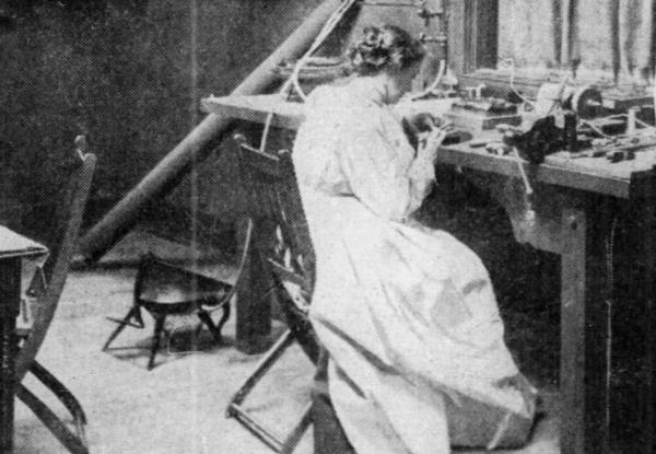 Florence Koehler at work in her studio