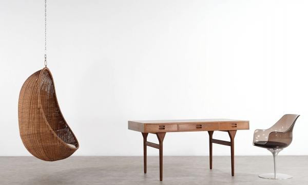 """Nanna Ditzel """"Egg Chair"""" Hanging Chair 1959 by Robert Wengler, Denmark"""