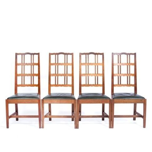 Set of four chairs by Peter van der Waals