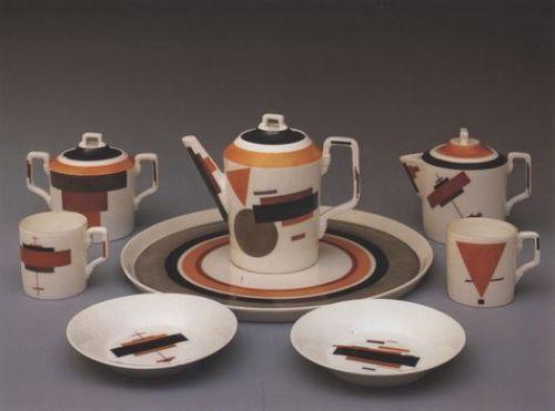 Tea set Nikolai Suetin's ceramic Suprematism, 1922-1928