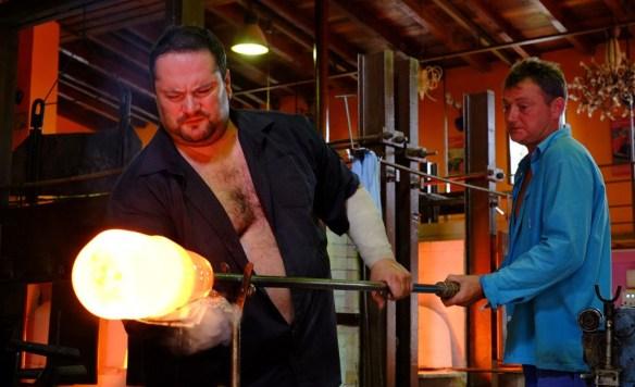 Glassblowing at Ajeto Glassworks