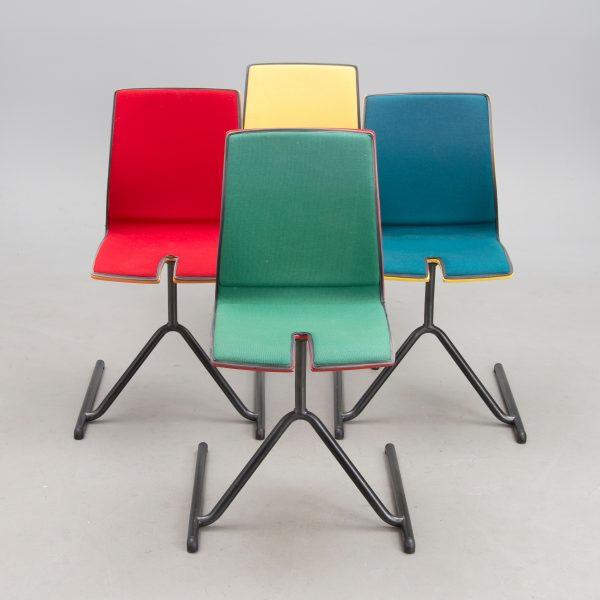 A set of four 'Lindfors 01' chairs for P.O Korhonen, Finland. Designed 1997. By Stefan Lindfors