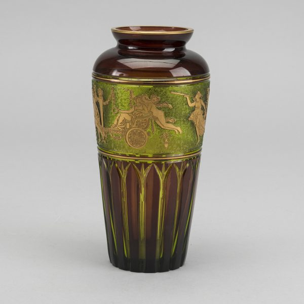 Léon Ledru a Cortège des Musiciens cameo glass vase for Val St Lambert around 1900-1910