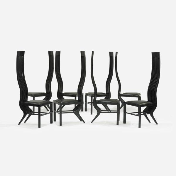Monroe chairs, set of eight designed by Arata Isozaki