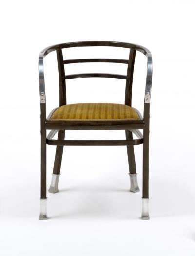 Armchair, from the Post Office Savings Bank, Vienna designed by Otto Wagner