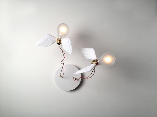 Lucellino Doppio winged light by Ingo Maurer
