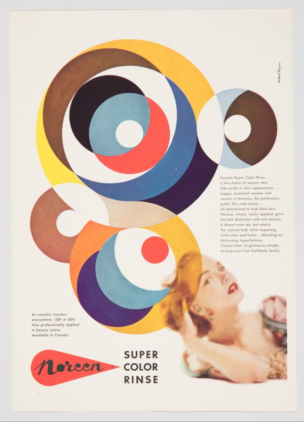 Print, Noreen Super Color Rinse, ca. 1953; Designed by Herbert Bayer