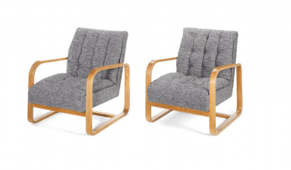 A Pair of Plan chairs by Serge Chermayeff
