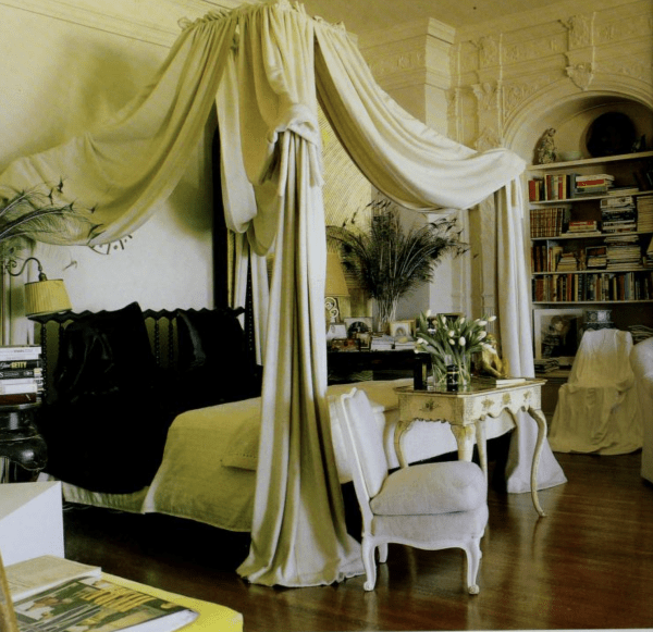 Bedroom interior designed by Michael Taylor.  Rosekrans House, Pacific Heights, San Francisco