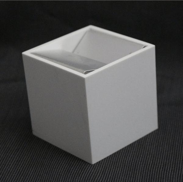 White Cubo Ashtray by Bruno Munari for Danese Milano, circa 1957, Midcentury (1stdibs)