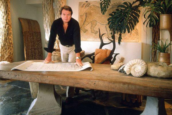 Michael Taylor american interior designer standing at table