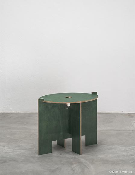 Green stool by Carme Pinos