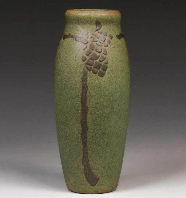 Early Marblehead Pottery Pine Cone Vase c1907