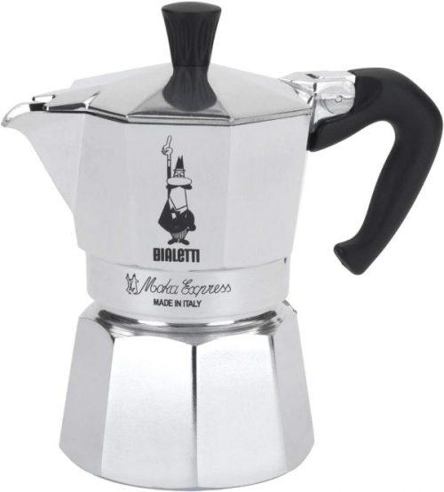 Bialetti Moka Express StoveTop Coffee maker, 3-Cup, Aluminum Silver