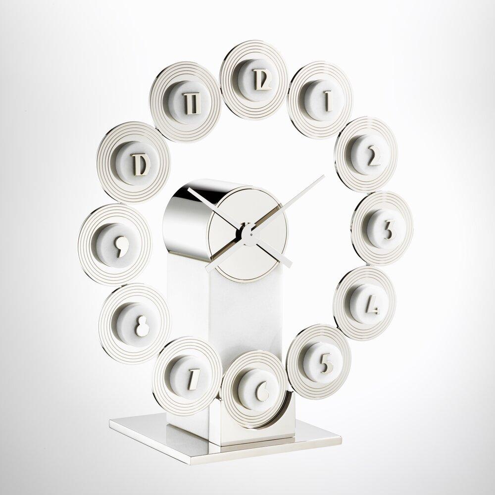 Clock designed by Jean Puiforcat, c. 1932.