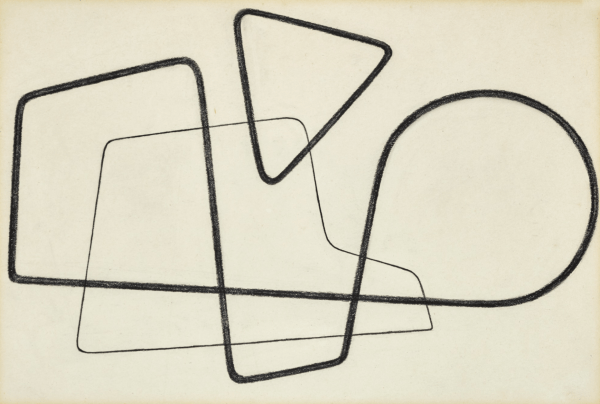 UNTITLED drawing by Alastair Morton signed with initials and dated May '40 on the reverse pencil on paper