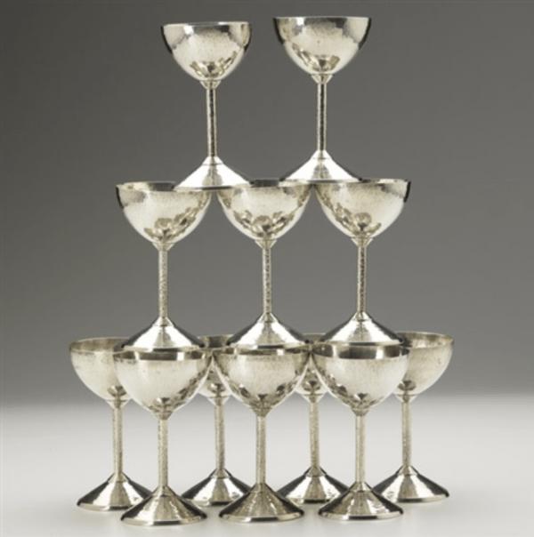 Stemmed coupes (set of 12) by Julius Olaf Randahl