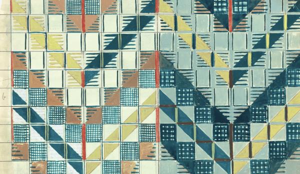 Underground moquette, 1937, pencil and gouache on paper.