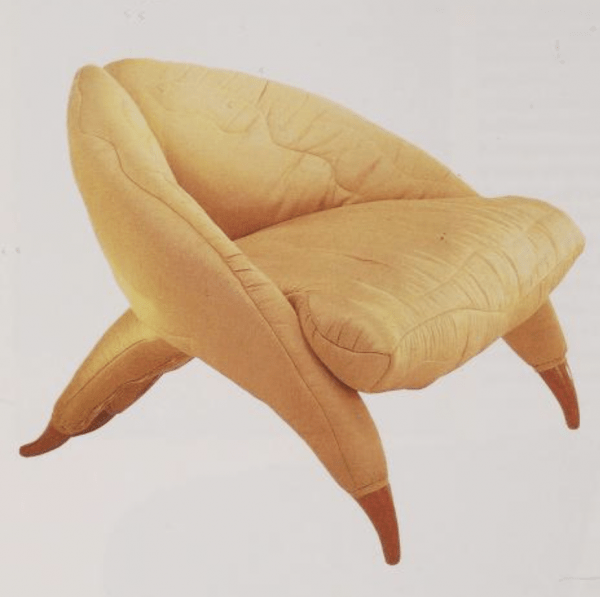 Gallo Armchair manufactured by Poltronova (1992) designed by Nigel Coates