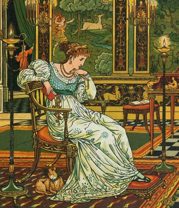 The Hind in the Wood by Walter Crane