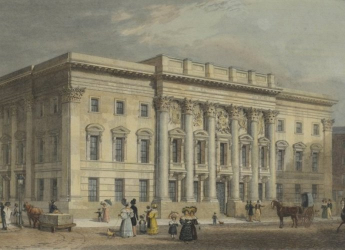 The third and present Goldsmiths' Hall in the second half of the 19th century