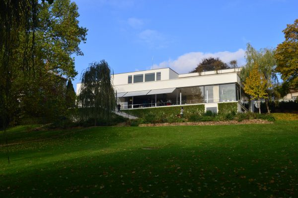 Exterior Villa Tugendhat designed by Ludwig Mies van der Rohe and Lilly Reich.