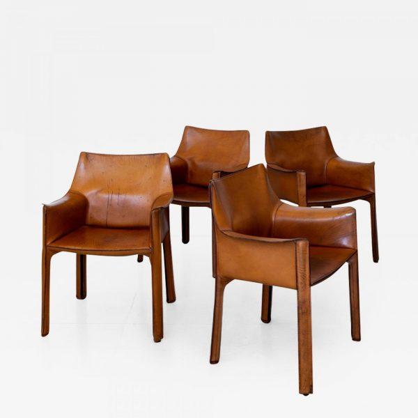 """Set of four """"Cab Chair"""" Mario Bellini"""