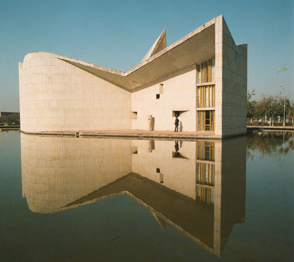 A building designed by Pierre Jeanneret for Chandigarh's Panjab University.