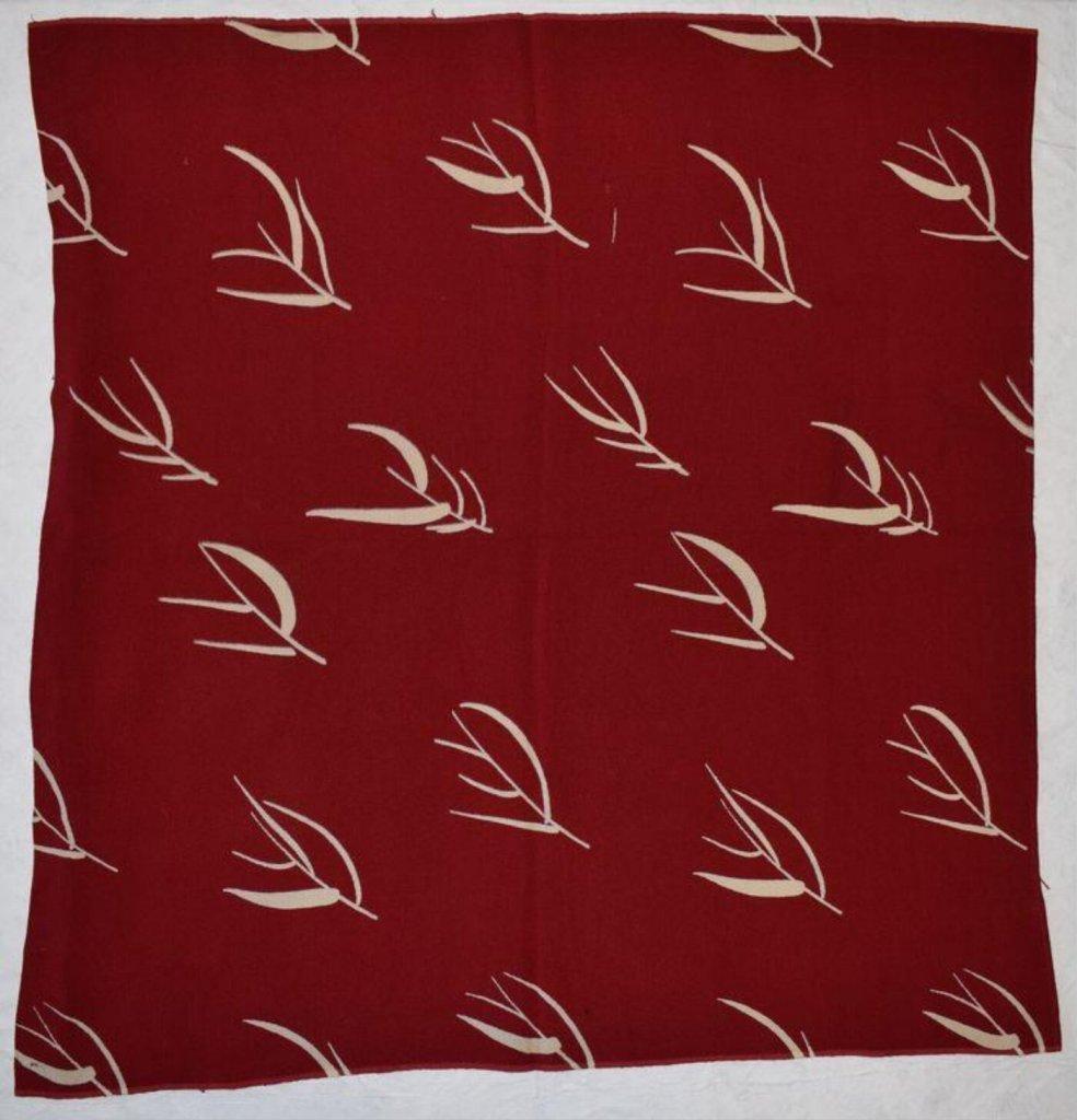 Furnishing fabric of spun rayon, designed by Margaret Leischner