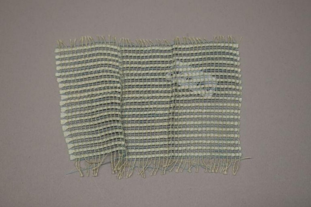Sample of handwoven gauze of silk and cotton, designed and woven by Margaret Leischner at Bauhaus, Dessau, 1929-1930