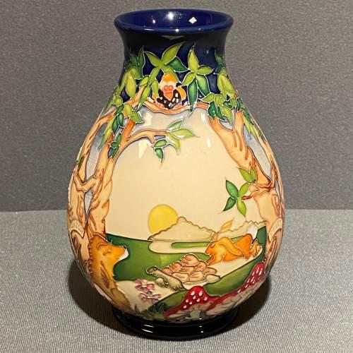 Moorcroft Pottery Snail and Tortoise Pattern Vase