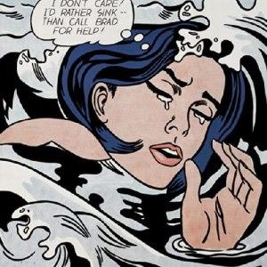 Drowning Girl a Fine Art Print by Roy Lichtenstein