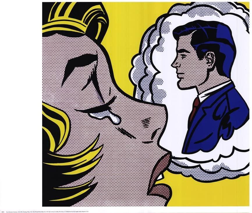 Thinking of Him by Roy Lichtenstein Art Print, 32 x 24 inches