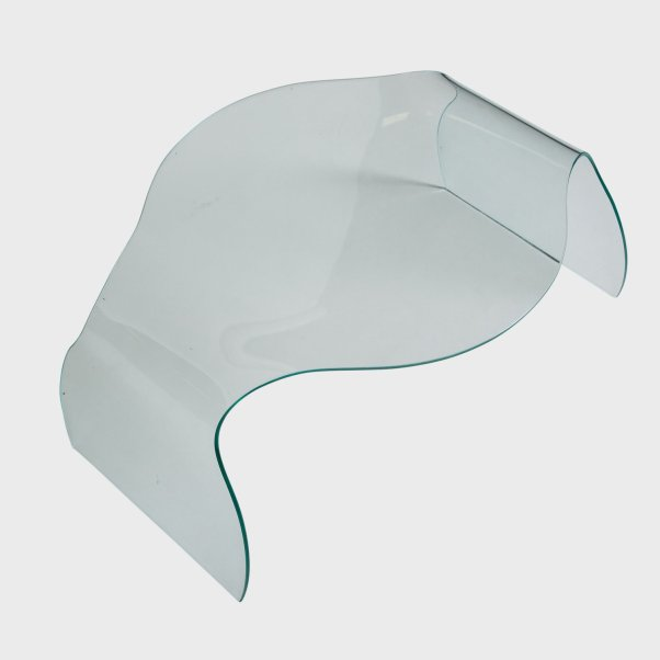 1969 Vintage Ondine curved glass table by Danielle Quarante.