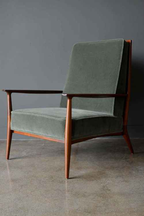 Walnut Frame Lounge Chair Model 402 designed by Paul McCobb