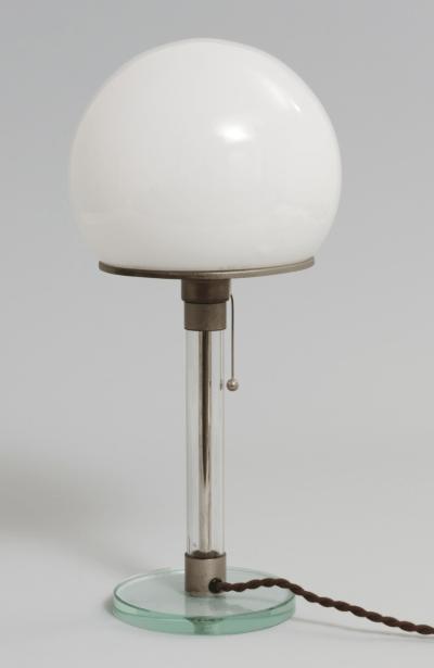 Bauhaus lamp by Wilhelm Wagenfeld and Carl Jakob Jucker (1923 - 1924)