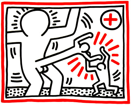 Three Lithographs, 1985 by Keith Haring
